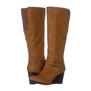 MIA Side Zip Knee High Boots Size 8